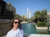 Burj Al Arab ao fundo, vista do Jumeira Beach