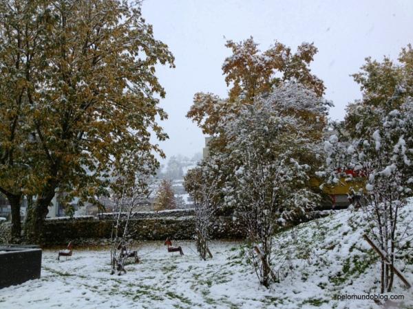 Neve no outono.