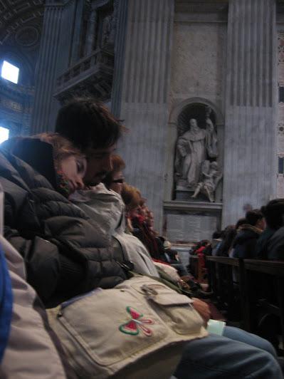 Esta é a pior, porque a gente dormiu de verdade - Basílica de São Pedro - Vaticano