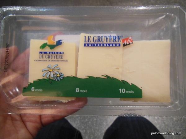 Os queijos que ganhamos na entrada.