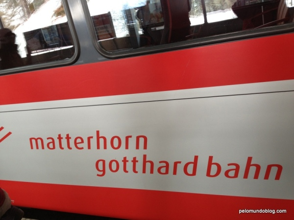 Trem para Zermatt.