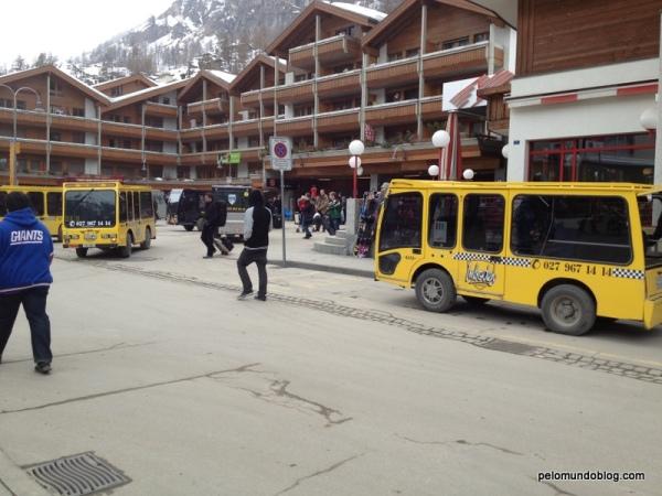 Os táxis de Zermatt.