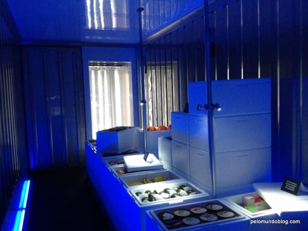 Container frigorífico. É assim que chega na Suíça os mamões, limões, mangas e outras frutas do Brasil.