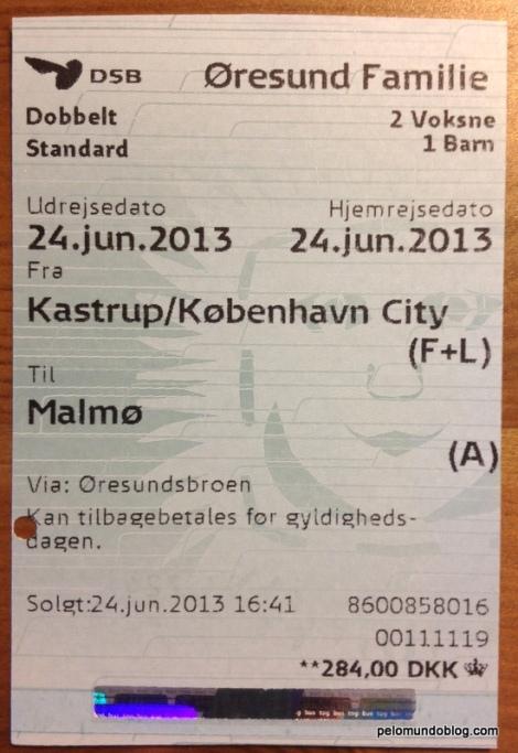 Ticket para Malmö.