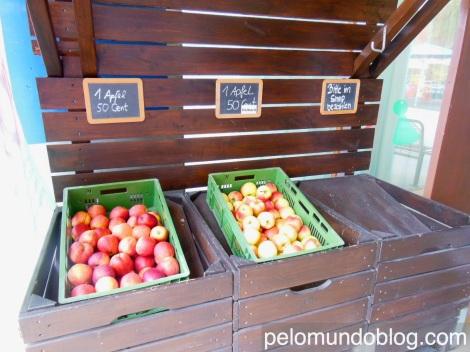 Maçã para vender. A região é produtora da fruta.