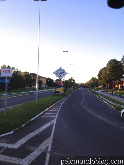 Entrada da UFSM, em Santa Maria - RS