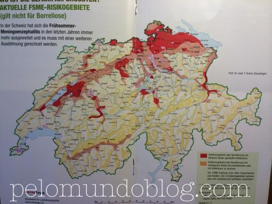Mapa das áreas de risco.