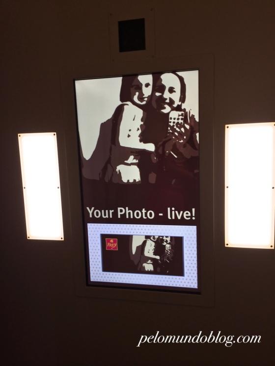 A foto na cabine.