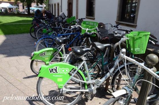 É possível conhecer a cidade pedalando nas bikes alugadas.