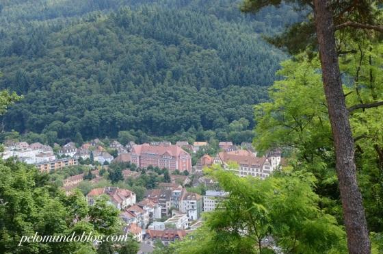 A cidade rodeada pela Floresta Negra.