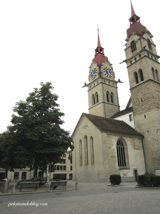 Igreja de Winterthur, construída no século 13.