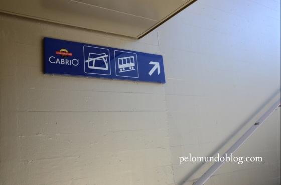 A sinalização na estação de Stans.