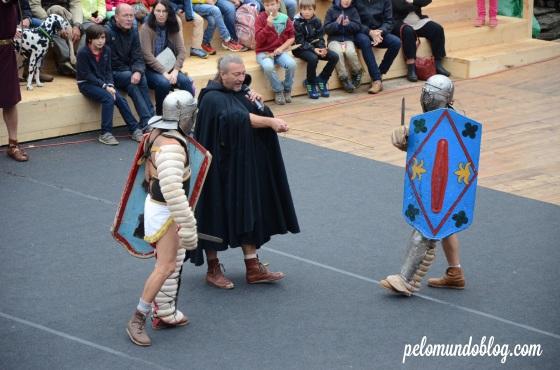 Luta de gladiadores.