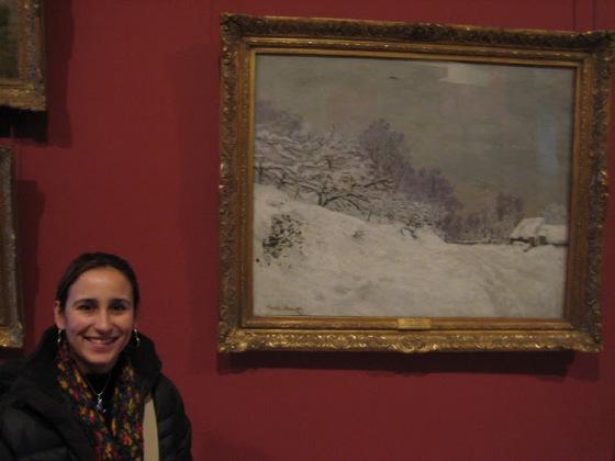 Eu e Monet no Louvre, Janeiro de 2008.