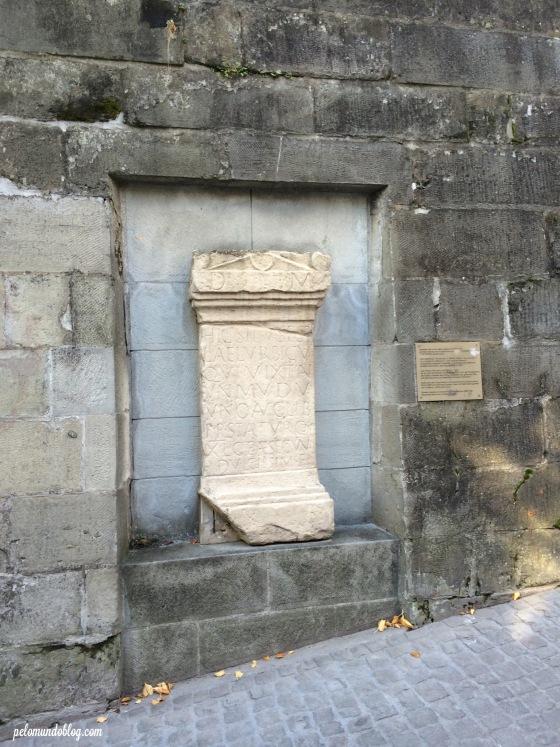 Pedra da era Romana.