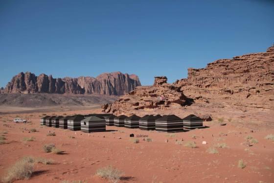 Acampamento de beduínos.