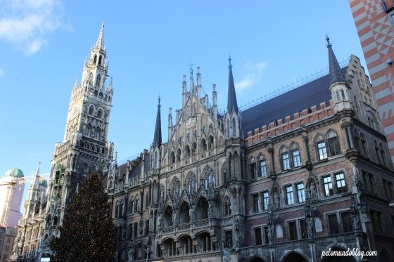 Mercado de Natal de Munique, na Marienplatz.