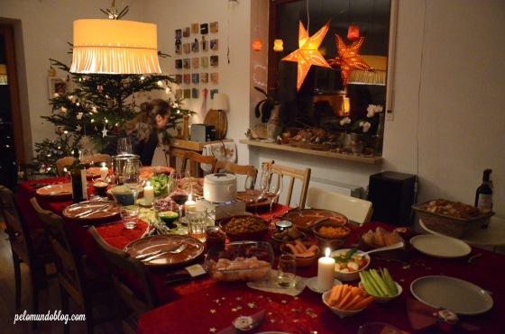 O jantar na casa do nosso amigo alemão foi fondue.