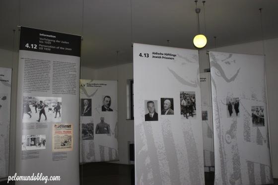 A exposição conta toda a história do lugar e do nazismo na época.