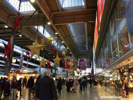 Estação central de Munique (Hauptbahnhof).