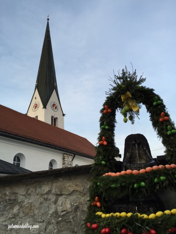 Fomos no fim de semana depois da páscoa e ainda tinha decoração por lá.