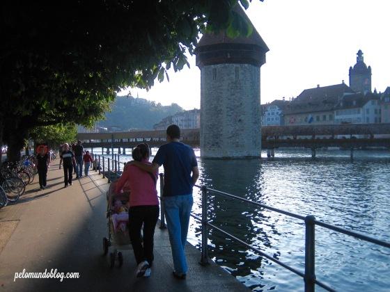 Nós, em 2009, quando fomos em Lucerna pela primeira vez.