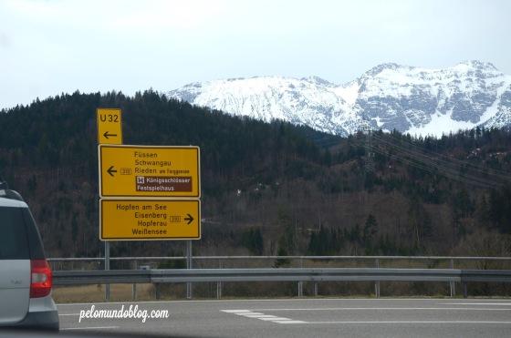 A caminho de Füssen.