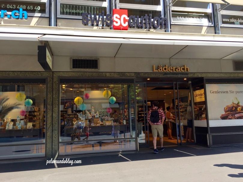Loja Läderach na Bahnhofstrasse, em Zurique.