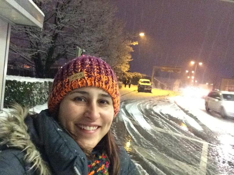 Foto na fronteira entre a Áustria e a Suíça, na noite que o vídeo foi gravado.