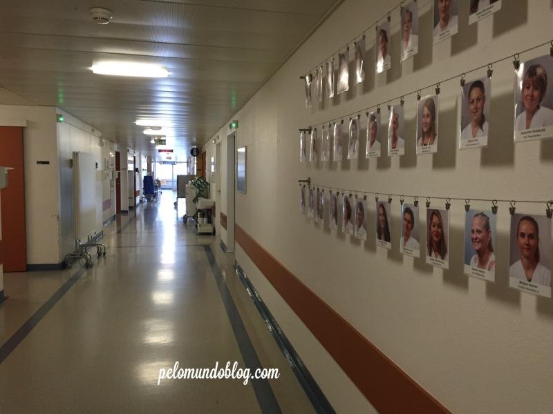 Fotos da equipe de enfermeiras e assistentes que trabalham na maternidade.