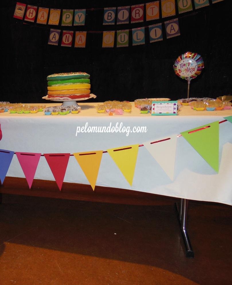 Festa de 4 anos no salão, em Turgi.